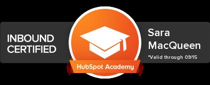 Inbound Certified by Hubspot