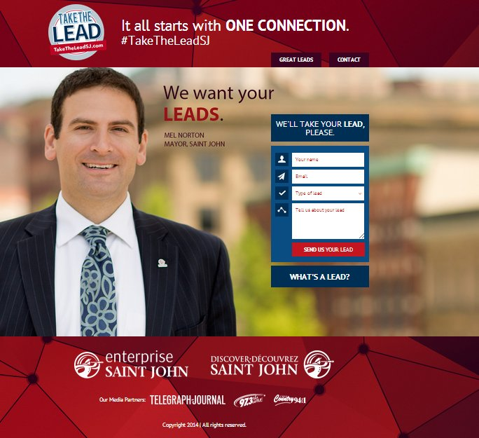 Take the Lead Saint John - Lessons in Lead Gen for Municipalities