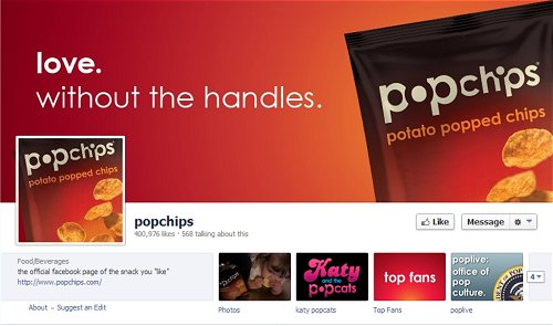 popchips Facebook Page